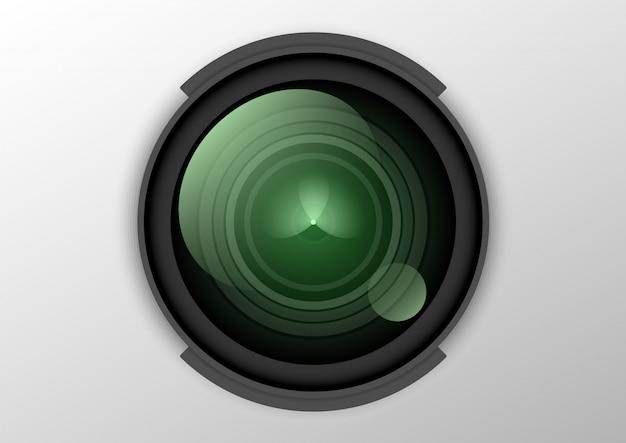 Dslr objektiv kamera Premium Vektoren