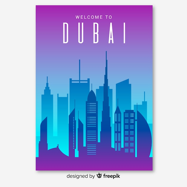 Dubai-flyer Kostenlosen Vektoren