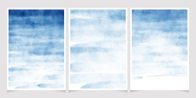 Dunkelblaue aquarellspritzenhintergrund-hochzeitseinladungskarte Premium Vektoren
