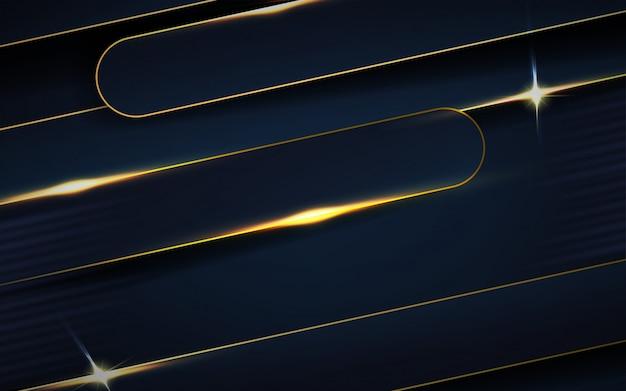 Dunkelblaue deckschichten mit linien hintergrund Premium Vektoren