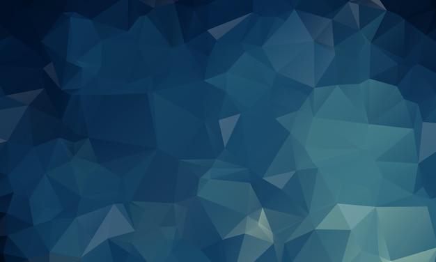 Dunkelblaue polygonale illustration, die aus dreiecken besteht. geometrischer hintergrund in der origami art mit steigung. dreieckiges design für ihr unternehmen. Premium Vektoren