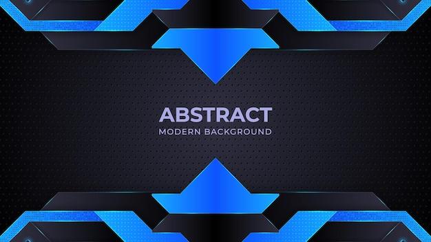 Dunkelblauer abstrakter hintergrundgeometrieglanz und ebenenelementvektor für präsentationsdesign Premium Vektoren