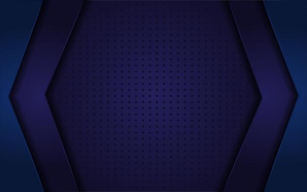 Dunkelblauer abstrakter realistischer hintergrund Premium Vektoren