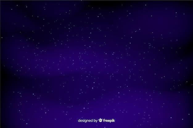Dunkelblauer himmel mit sternhintergrund Kostenlosen Vektoren
