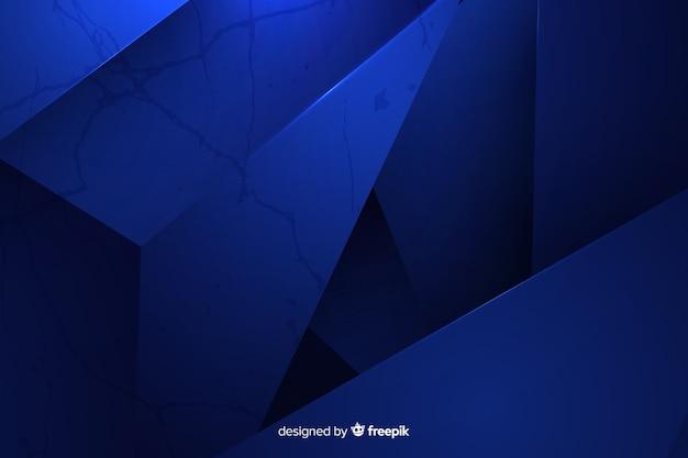 Dunkelblauer polygonaler hintergrund Kostenlosen Vektoren