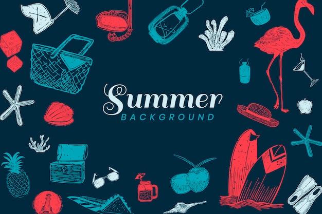 Dunkelblauer sommerhintergrund Kostenlosen Vektoren