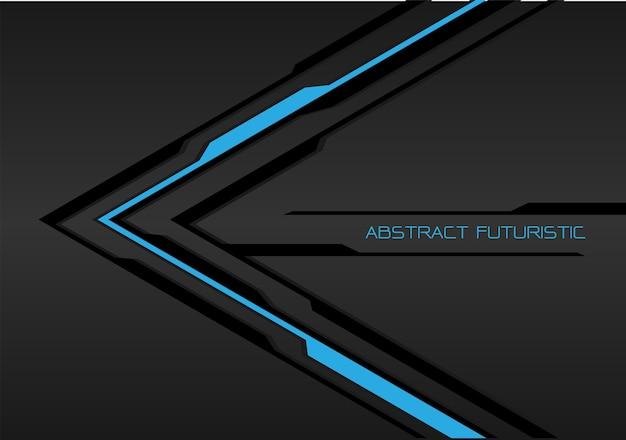 Dunkelgraue futuristische hintergrund der blauen schwarzen linie pfeil. Premium Vektoren