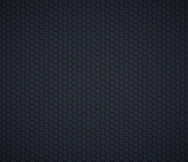 Dunkelgraue technologiehexagonbienenwabe Premium Vektoren