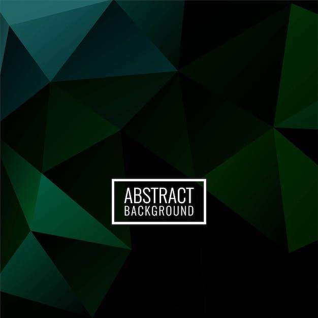 Dunkelgrüner hintergrund des abstrakten geometrischen polygons Kostenlosen Vektoren