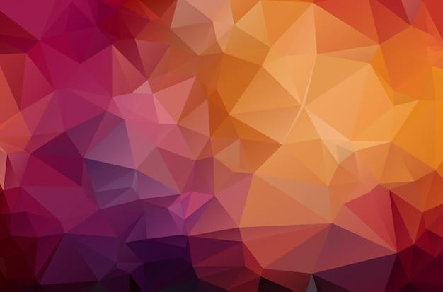 Dunkelroter geometrischer zerknitterter dreieckiger hintergrund Premium Vektoren