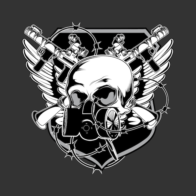 Dunkle armee logo vektor Premium Vektoren