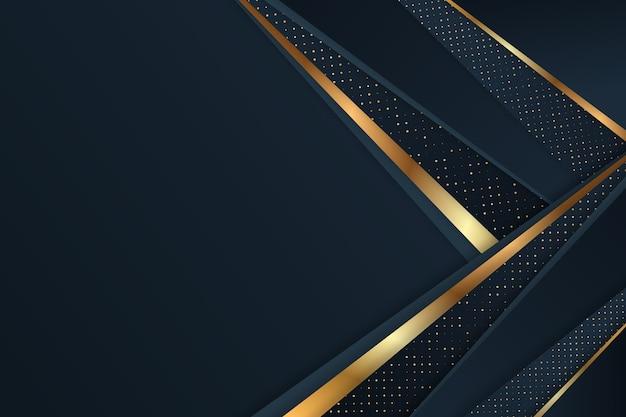 Dunkle papierschichten tapezieren mit golddetails Kostenlosen Vektoren