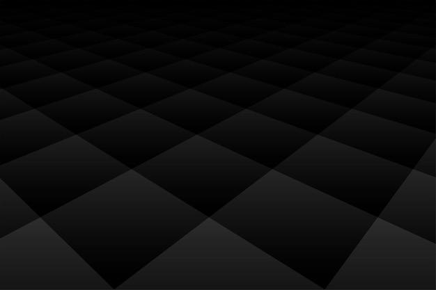 Dunkle tapete des schwarzen hintergrunds mit diamantperspektivmuster Kostenlosen Vektoren
