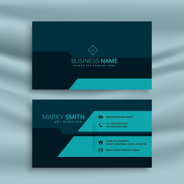 Dunkle Visitenkarte Design Vorlage Download Der