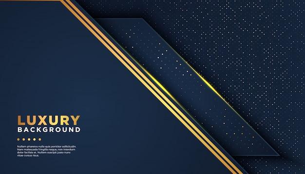 Dunkler abstrakter hintergrund mit deckungsschichten. luxus-design-konzept. golden glitters dots element dekoration luxus-design-konzept Premium Vektoren