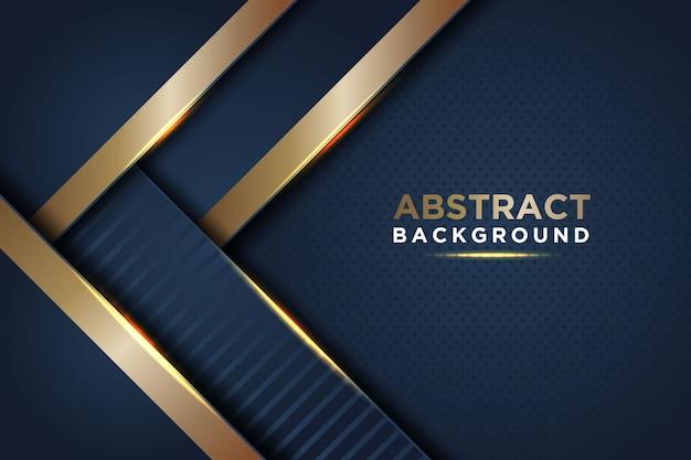 Dunkler abstrakter hintergrund mit dunkelblauen deckschichten Premium Vektoren