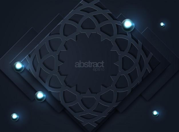 Dunkler abstrakter hintergrund mit schwarzen deckschichten Premium Vektoren