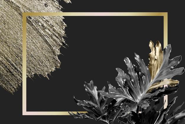 Dunkler goldener hintergrund Premium Vektoren