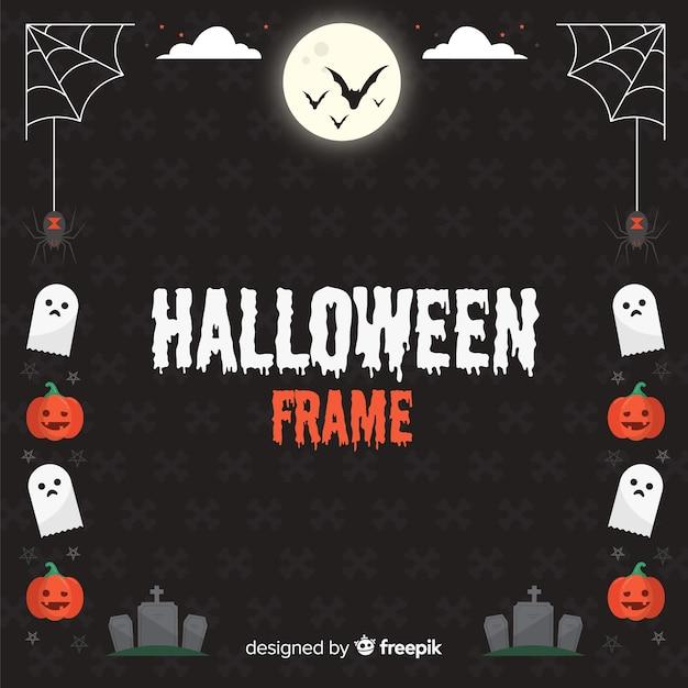 Dunkler halloween-rahmen Kostenlosen Vektoren