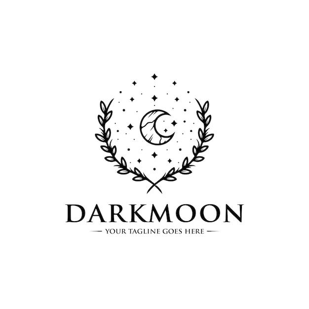 Dunkler mond logo vorlage Premium Vektoren