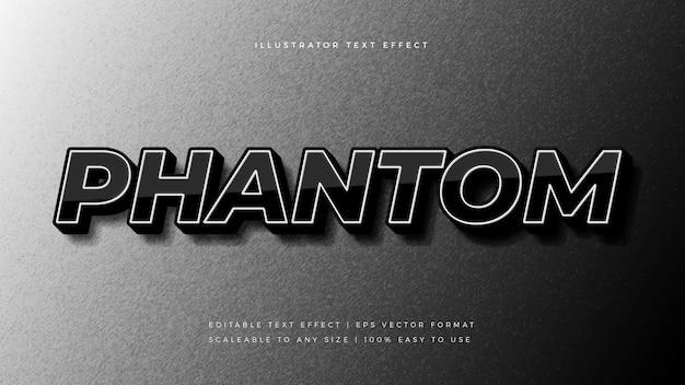 Dunkler phantomtextstil-schrifteffekt Premium Vektoren