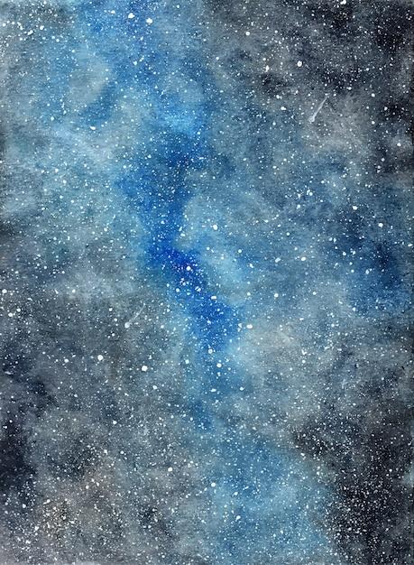 Dunkler sternenklarer galaxiehintergrund des abstrakten aquarells Premium Vektoren