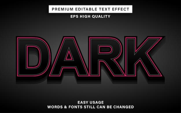 Dunkler texteffekt Premium Vektoren