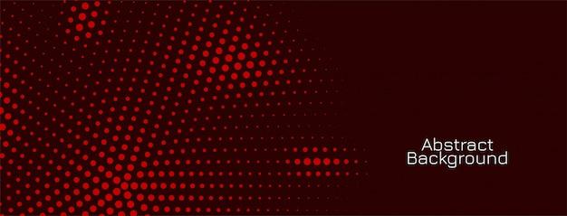 Dunkles bannerdesign des roten halbtonmusters Kostenlosen Vektoren