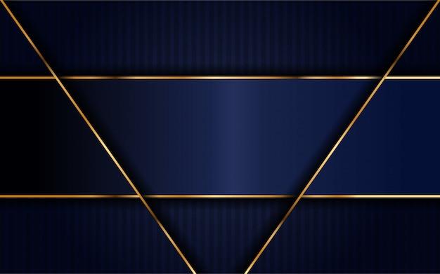 Dunkles marineblau mit überlappungsschichthintergrund. Premium Vektoren
