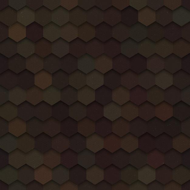Dunkles nahtloses muster der hexagon-technologie-3d Premium Vektoren