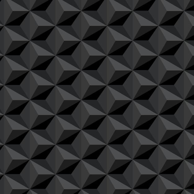 Dunkles nahtloses muster mit hexagonhintergrund Kostenlosen Vektoren