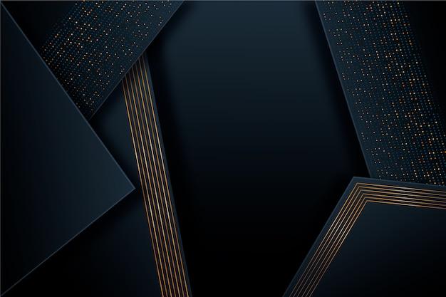 Dunkles papier der goldenen details überlagert hintergrund Kostenlosen Vektoren
