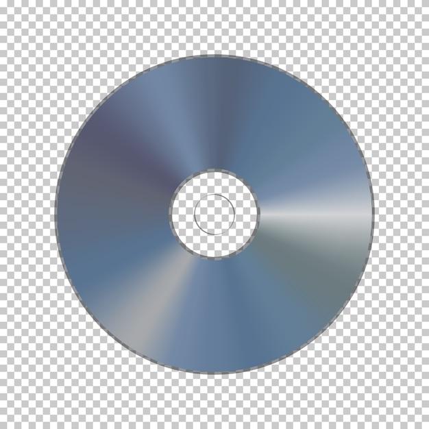 Dvd oder cd auf transparentem hintergrund isoliert. Premium Vektoren