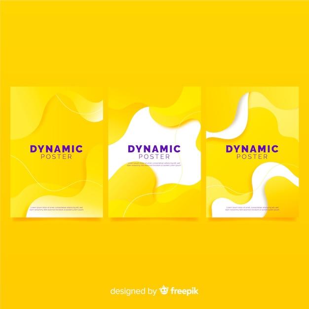Dynamische plakatsammlung Kostenlosen Vektoren