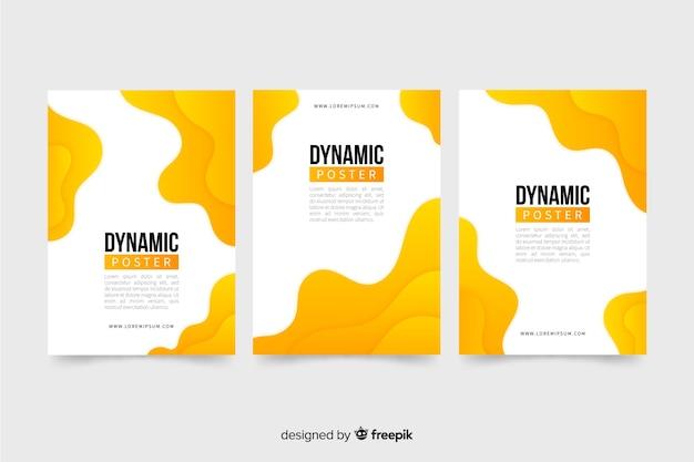 Dynamische plakatvorlagensammlung Kostenlosen Vektoren