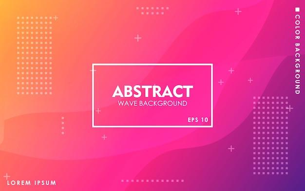Dynamischer abstrakter geometrischer steigungshintergrund Premium Vektoren