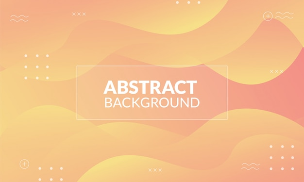 Dynamischer abstrakter hintergrund mit gelber pastellfarbe Premium Vektoren