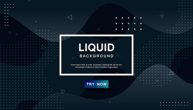 Dynamischer abstrakter schwarzer wellenförmiger hintergrund Premium Vektoren