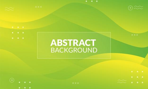 Dynamischer flüssiger abstrakter hintergrund mit stabilofarbe Premium Vektoren