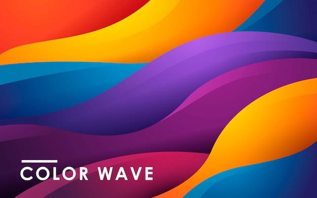 Dynamischer flüssiger farbhintergrund Premium Vektoren