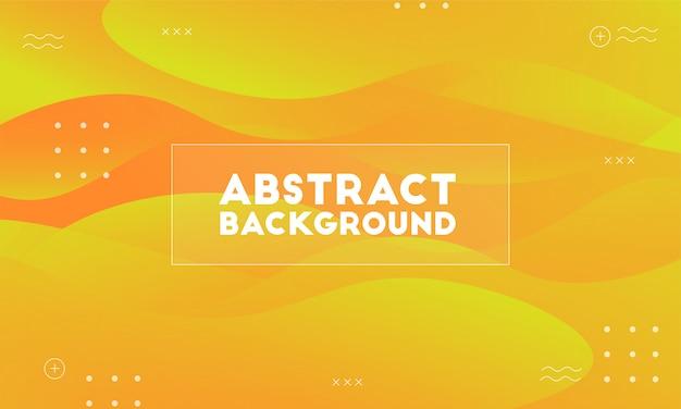 Dynamischer gelber abstrakter hintergrund Premium Vektoren