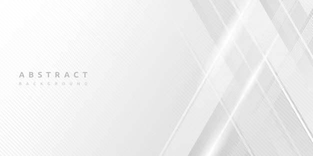 Dynamischer minimaler leerer weißer streifenbeschaffenheitshintergrund Premium Vektoren