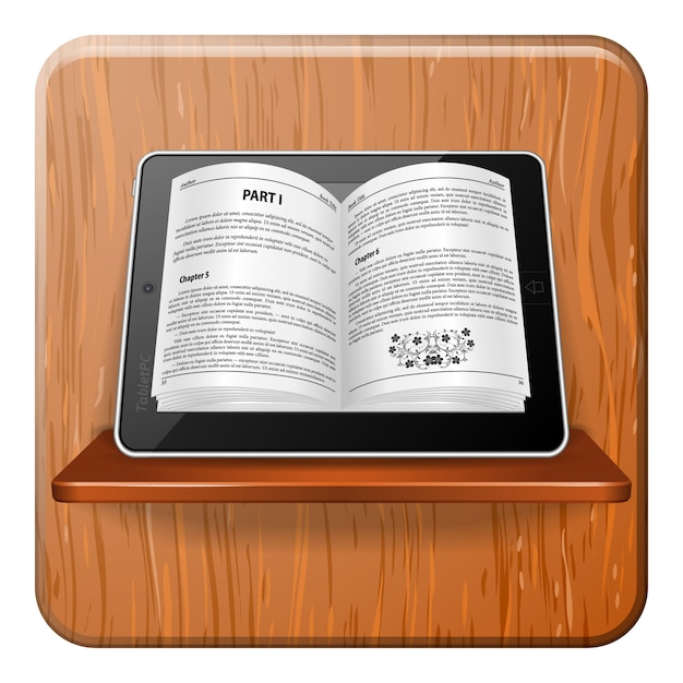 E-book-konzept Premium Vektoren