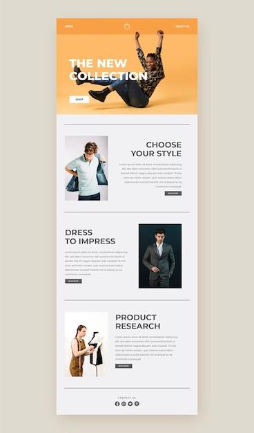 E-commerce-e-mail-vorlage Premium Vektoren