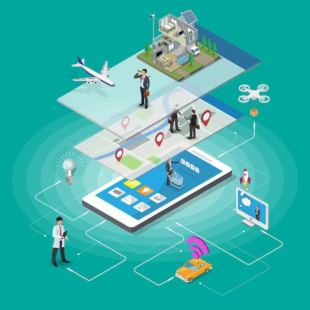 E-commerce smart home Premium Vektoren