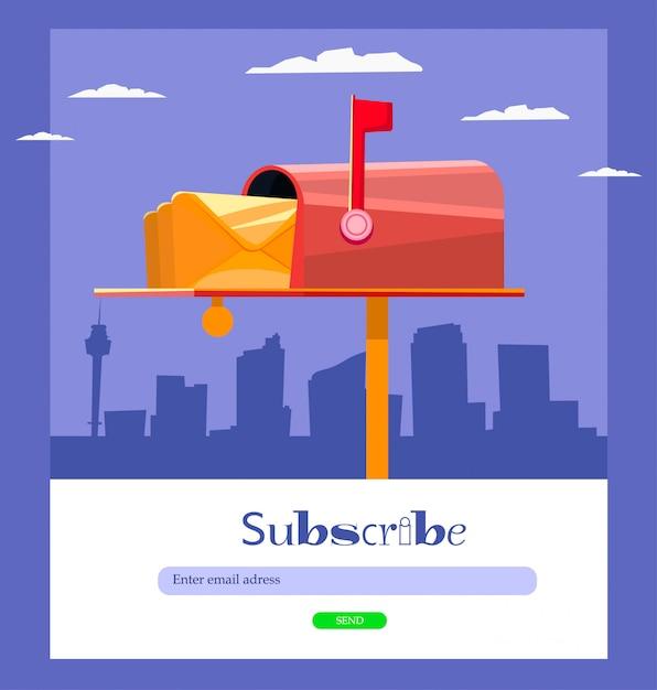 E-mail abonnieren Premium Vektoren