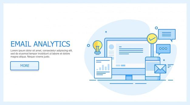 E-mail-analyse Premium Vektoren