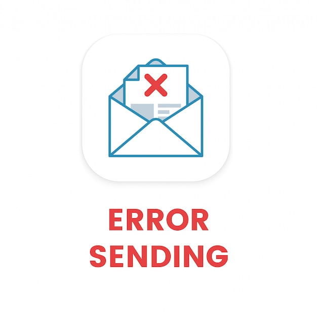 E-mail-fehler beim senden Premium Vektoren