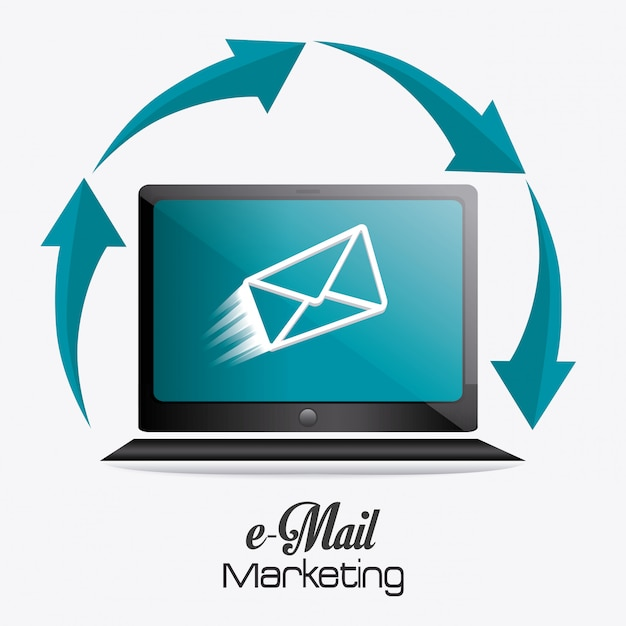 E-mail-marketing-design. Premium Vektoren