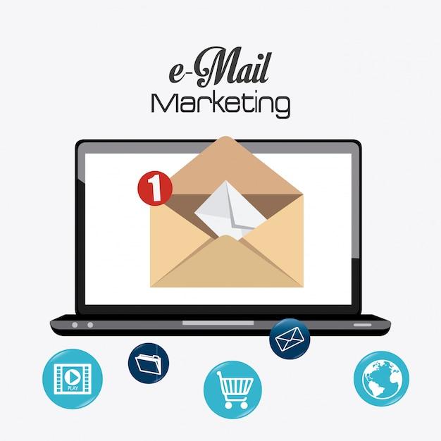 E-mail-marketing-design. Premium Vektoren
